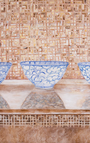 Three Chinese bowls